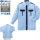 ベスト GK416(サックス×ネイビー)警備長袖シャツ空調服 [業者様専売品]│BEST