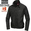 バートル 5511HB ジャケット(ユニセックス)│BURTLE[16SS](35)ブラック