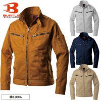 BURTLE(バートル)綿100% 製品洗いチノクロス[日本製生地]長袖ブルゾン 【5501】