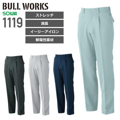 桑和 1119 ワンタックスラックス│BULL WORKS( ブルワークス)[19AW]